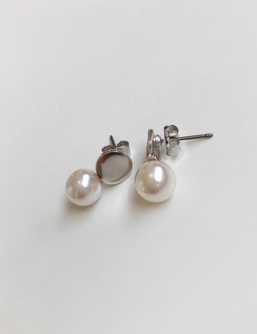 mini pearl-earring ;2color